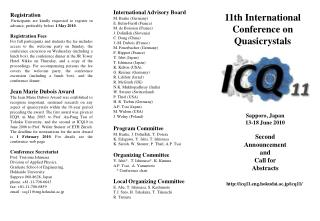 International Advisory Board M. Baake (Germany) E. Belin-Ferr é  (France) M. de Boissieu (France)