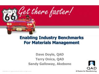 Enabling Industry Benchmarks  For Materials Management