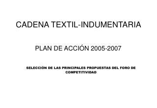 CADENA TEXTIL-INDUMENTARIA