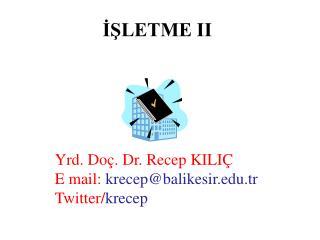 İŞLETME II