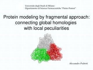 Universit  degli Studi di Milano Dipartimento di Scienze Farmaceutiche  Pietro Pratesi
