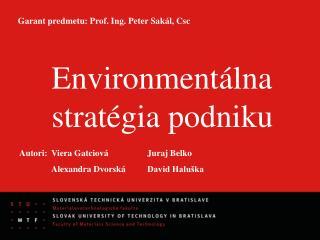 Environmentálna stratégia podniku