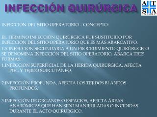INFECCIÓN QUIRÚRGICA