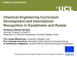 Chemical Engineering Curriculum Development and International Recognition in Kazakhstan and Russia