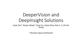 DeeperVision  and  DeepInsight  Solutions