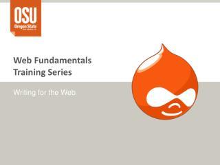 Web Fundamentals Training Series