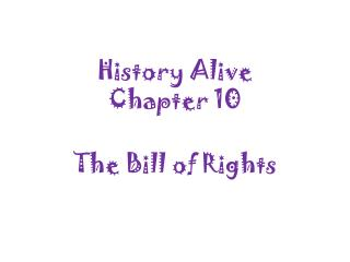 History Alive  Chapter 10