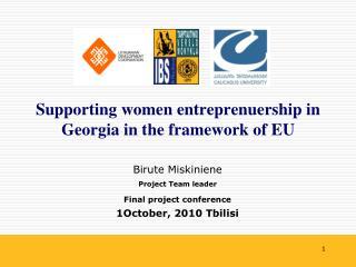 Supporting women entreprenuership in Georgia in the framework of EU