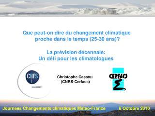 Journees Changements climatiques Meteo-France