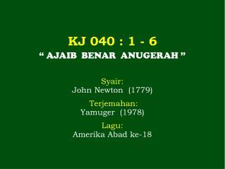 KJ  040  : 1 -  6