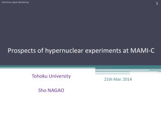 Prospects of  hypernuclear  experiments  at MAMI-C