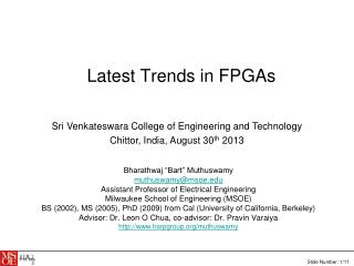 Latest Trends in FPGAs