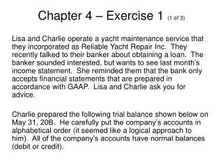 Chapter 4 – Exercise 1  (1 of 3)