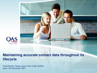 Maintaining accurate contact data throughout its lifecycle