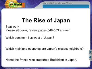 The Rise of Japan