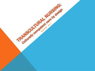 TRANSCULTURAL NURSING: Culturally competent care by design