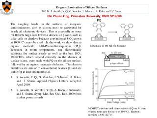 Schematic of PQ-Silicon bonding