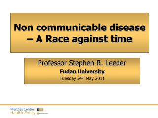 Non communicable disease –  A Race against time