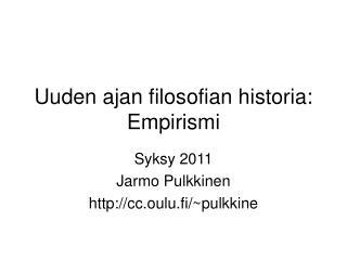Uuden ajan filosofian historia: Empirismi