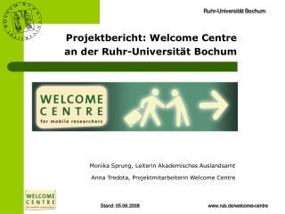 Projektbericht: Welcome Centre an der Ruhr-Universität Bochum