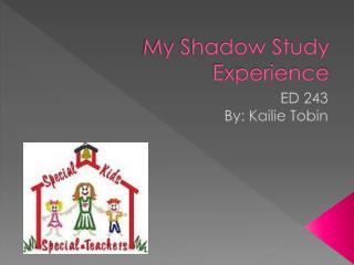 My Shadow Study Experience