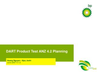 DART Product Test ANZ 4.2 Planning