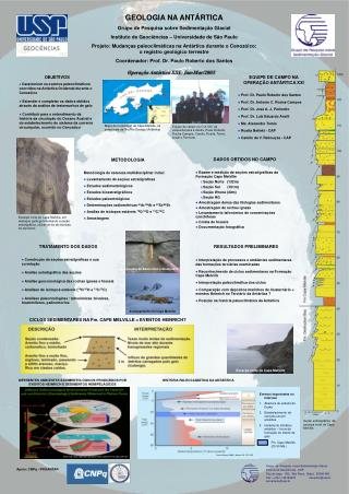GEOLOGIA NA ANT�RTICA Grupo de Pesquisa sobre Sedimenta��o Glacial