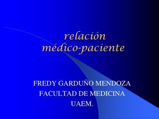 relación  médico-paciente