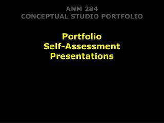 ANM 284 CONCEPTUAL STUDIO PORTFOLIO