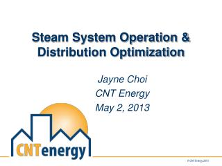 Steam System Operation & Distribution Optimization