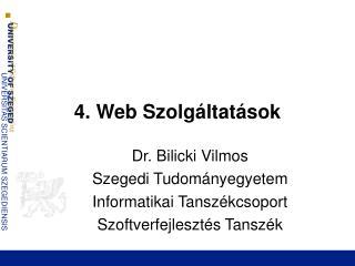 4. Web Szolgáltatások
