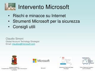 Intervento Microsoft