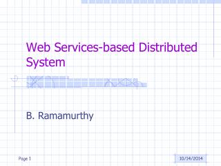 Web Services-based Distributed System