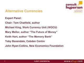 Alternative Currencies