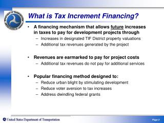 Tax Increment Financing and Infrastructure Investment