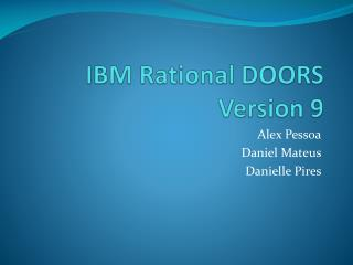 IBM  Rational  DOORS Version 9