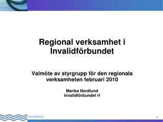 Regional verksamhet i Invalidförbundet