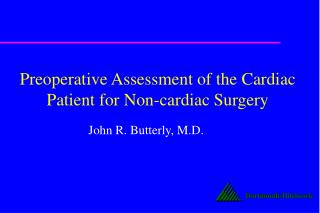 Preoperative Assessment of the Cardiac Patient for Non-cardiac Surgery