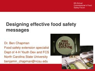Designing effective food safety messages