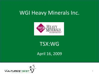 WGI Heavy Minerals Inc.