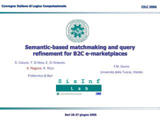Semantic-based matchmaking and query refinement for B2C e-marketplaces