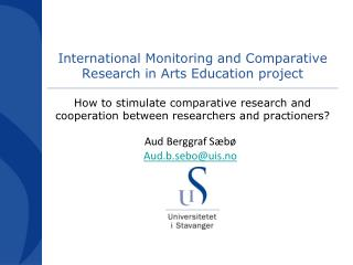 International Monitoring and Comparative Research in Arts Education project