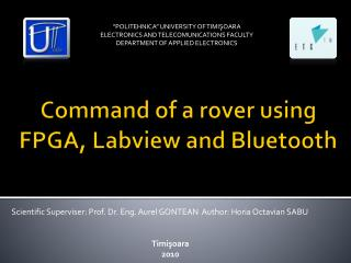Command of a rover using FPGA, Labview and Bluetooth