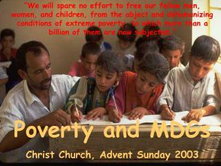 Three weeks on Global Poverty