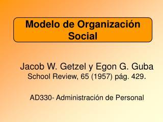 Modelo de Organizaci n Social