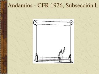 Andamios - CFR 1926, Subsecci n L