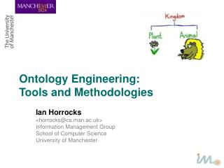 Ontology Engineering:  Tools and Methodologies