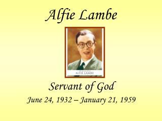 Alfie Lambe