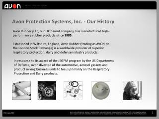 Avon Protection Systems, Inc. - Our History