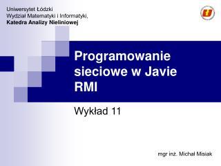 Programowanie sieciowe w Javie RMI